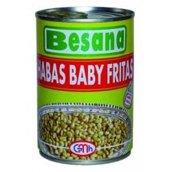 Habas baby fritas
